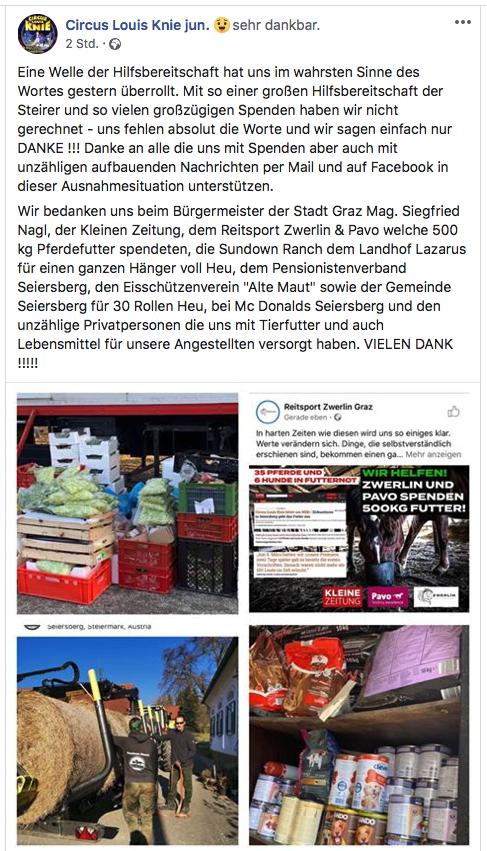 Screenshot Facebook/Louis Knie